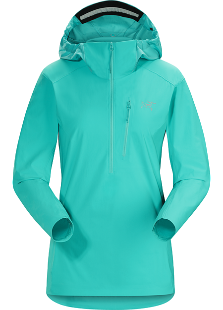 Psiphon SL Pullover Women's Versatile, light, compact softshell pullover designed for women and built for multi-pitch climbing.