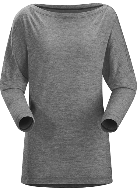 Quinn Top LS Women's Casual, dolman sleeved top in a soft, performance wool blend.