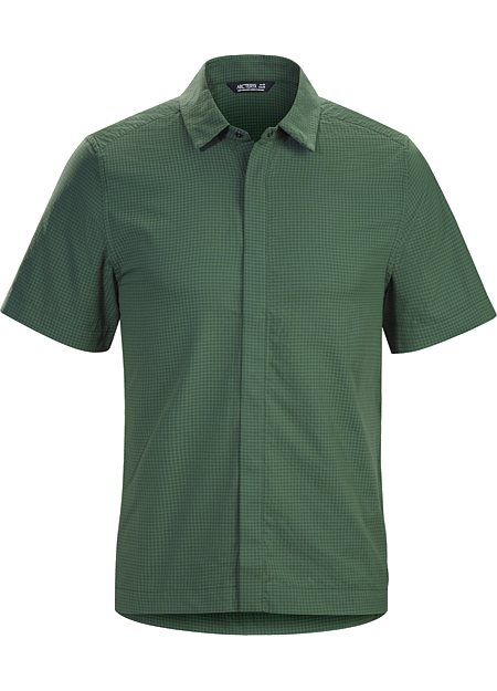 Revvy Shirt SS Men's Lightweight short sleeve shirt for travel and casual days. Made from a nylon/cotton blend seersucker for comfort and technical performance.