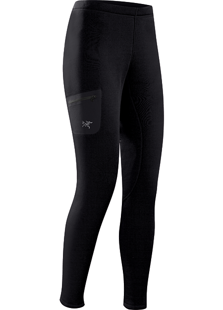 Rho AR Bottom Women's Versatile, mid-weight, insulated tight that can be worn as an insulated base layer, or as a stand-alone outer layer during cool-weather workouts