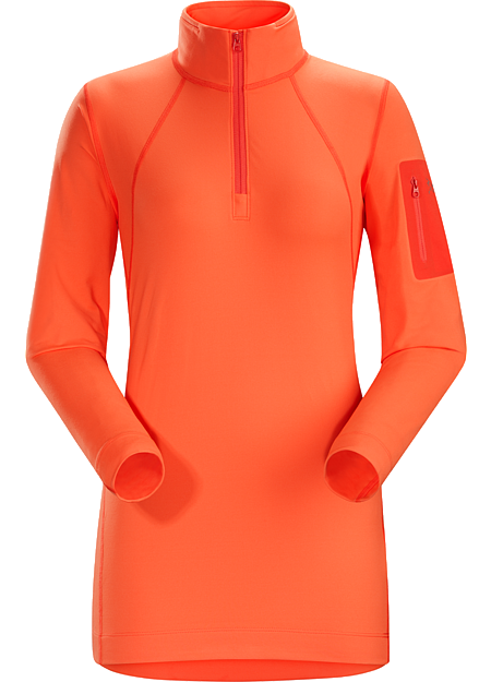 Rho LT Zip Neck Women's Women's lightweight Torrent™ zip neck base layer for lower output activities in cool temperatures.