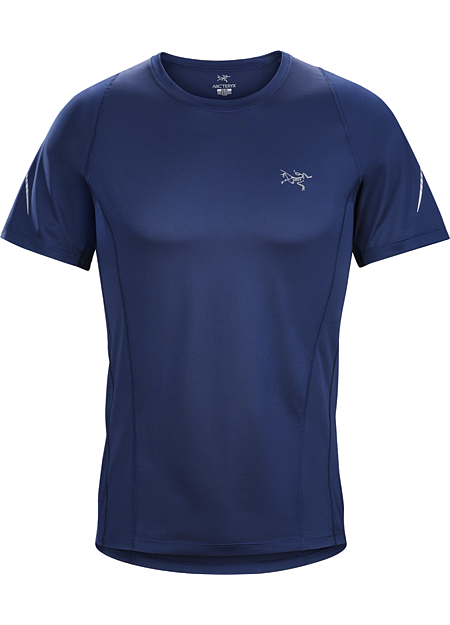 Sarix SS Men's Ultra lightweight, highly air permeable performance mesh shirt for race level runs and high output mountain training.