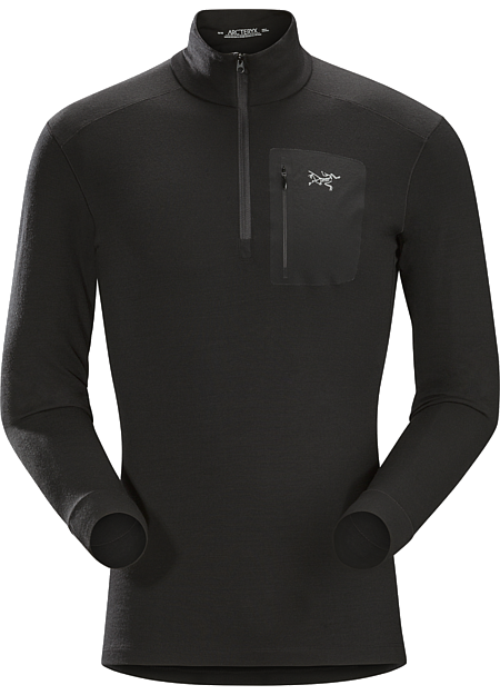 Satoro AR Zip Neck Shirt LS Men's Midweight Merino baselayer delivering wool performance with enhanced durability.