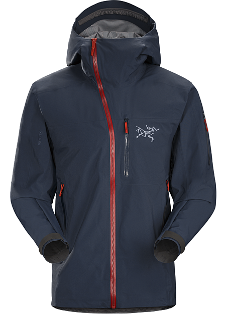 Sidewinder SV Jacket Men's Tough waterproof hardshell. Sidewinder front zipper curves away from your face. Our most durable snowsports specific waterproof shell.