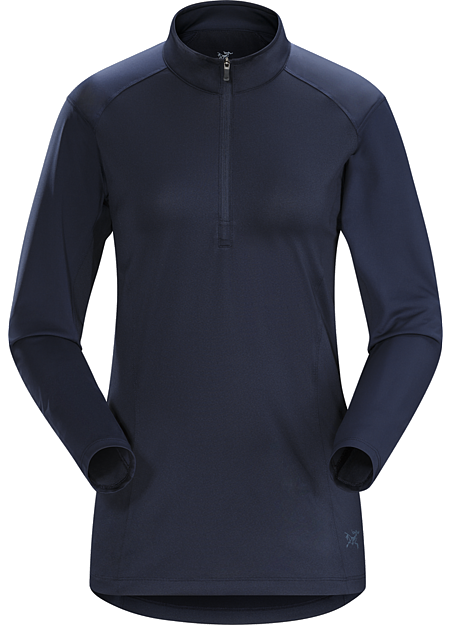 Skeena Zip Neck LS Women's Light, moisture wicking long sleeve women's zip neck with performance stretch and durability. Designed for extended hiking, trekking and backpacking.