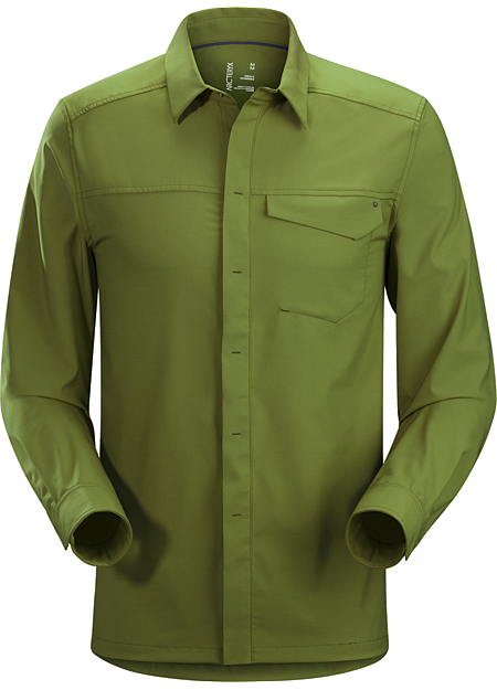 Skyline Shirt LS Men's Updated button down in a lightweight, wrinkle-resistant performance fabric.