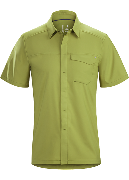 Skyline Shirt SS Men's Updated button down in a lightweight, wrinkle-resistant performance fabric.