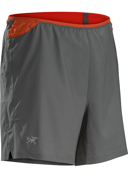 Soleus Short Men's Lightweight performance stretch short for high output training features a built in brief, integrated ventilation and multiple pockets on waist belt.