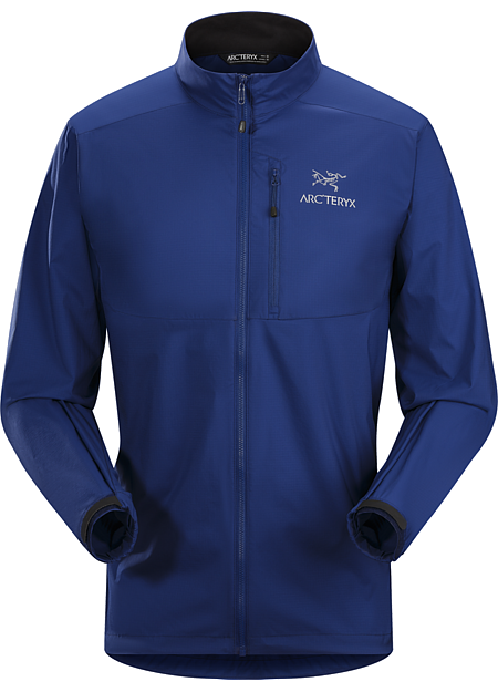 Squamish Jacket Men's Super lightweight, durable and compressible jacket; Ideal as a wind resistant layer for warm weather activities