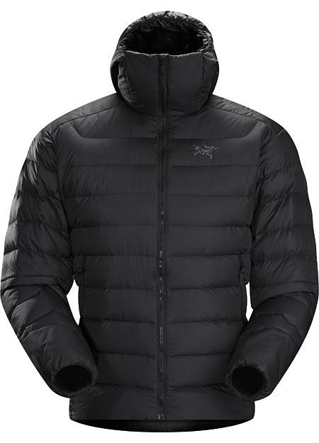 Thorium AR Hoody Men's Generalist down hoody made from durable face fabrics and 750 fill grey goose down. Functions as a warm mid layer or standalone piece for cool, dry conditions. Down Series: Down insulated garments | AR: All-Round.