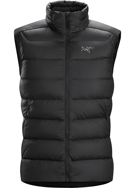 Thorium SV Vest Men's Warm 750 fill power goose down vest with a durable Arato™ 40 nylon face fabric. Can be worn as a cold weather standalone, or as a midlayer in more severe conditions. Down Series: Down insulated garments | SV: Severe Weather.
