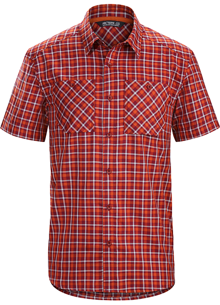 Tranzat Shirt SS Men's Plaid, short sleeve, relaxed fit button down shirt constructed with a premium quality Ryan™ wool/cotton blend fabric.