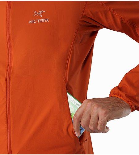 ノディン ジャケット メンズ 超軽量、簡単収納のバックカントリー旅行向け防風フード付き。