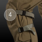 Combat pant knee pad pocket