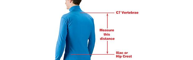 Richtige Messung der Rückenlänge