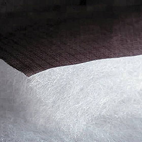 Thermatek insulation bonded to a backer fabric