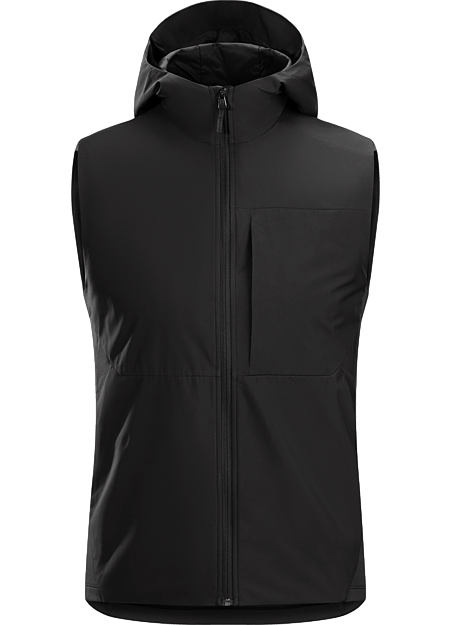 Thermal performance and wind protection in a vest for the urban bike commute.
