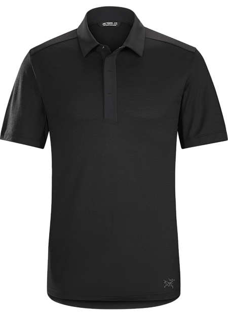 A2B Polo Shirt Men's Short sleeve bike commuters' polo made from Polylain™ Merino blend fabric.