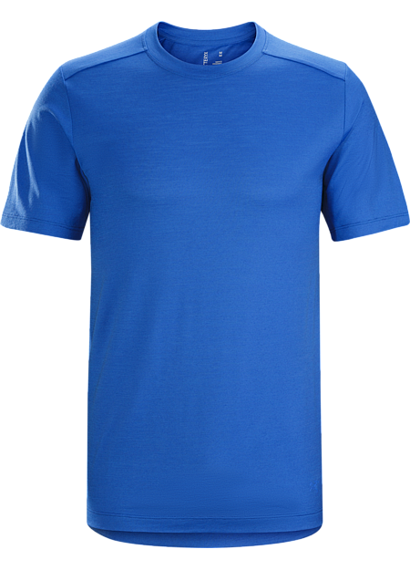 Lightweight, trim fitting wool blend T-shirt for bike commutes and daily living.