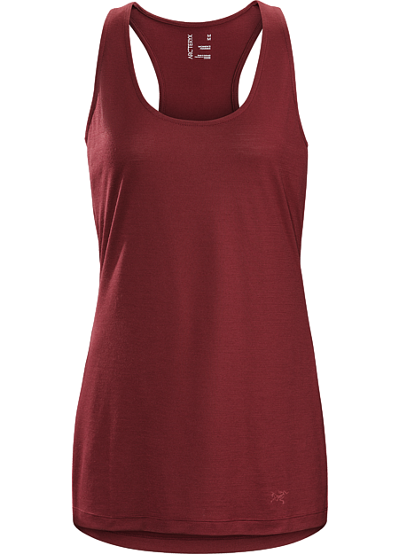 Versatile wool blend tank for urban cycling and off-bike living.