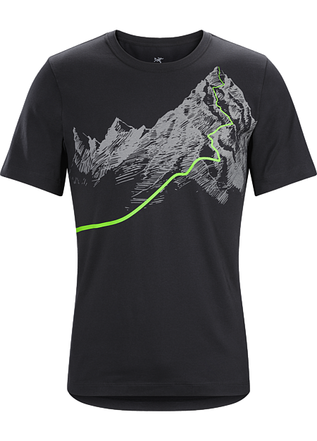 Afterglo Heavyweight T-Shirt Men's T-shirt with a night ascent graphic made with organically grown cotton.