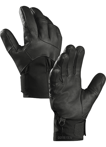 Versatile men's skiing and snowboarding gloves combine enhanced fit and grip with waterproof breathable GORE-TEX® with XCR® product technology and warm Primaloft® insulation.