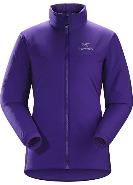 Atom LT Jacket Women's Insulated, mid-layer jacket with wind and moisture resistant outer face fabric; ideal as a layering piece for cold weather activities. Atom Series: Synthetic insulated mid layers | LT: Lightweight.
