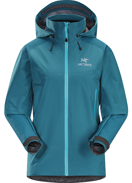 Highly versatile women's waterproof breathable shell designed using two different weights of GORE-TEX® Pro to maximize durability and minimize weight. Beta Series: All-round mountain apparel | AR: All-Round.