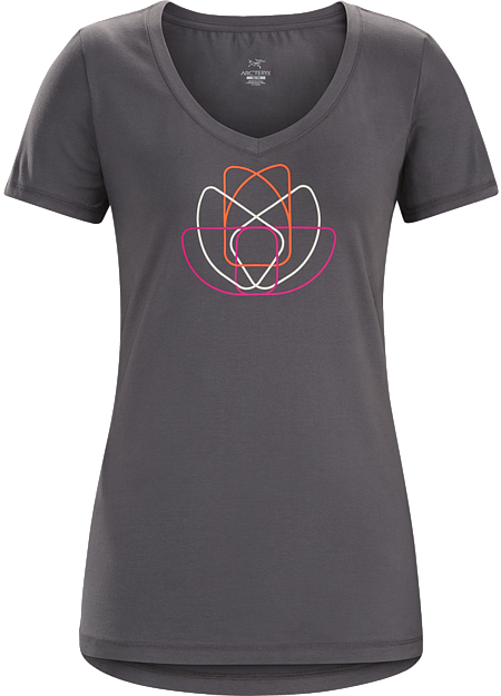 T-shirt with a lotus cam graphic made with organically grown cotton.
