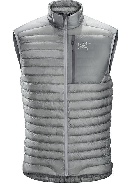 Super minimalist, ultralight 850 fill power down vest designed as a midlayer for cool, dry conditions. Down Series: Down insulated garments | SL: Super Light.