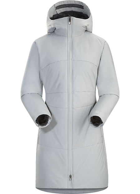 Warm, water repellent, casual hooded coat with Coreloft™ synthetic insulation and a clean, sophisticated design.