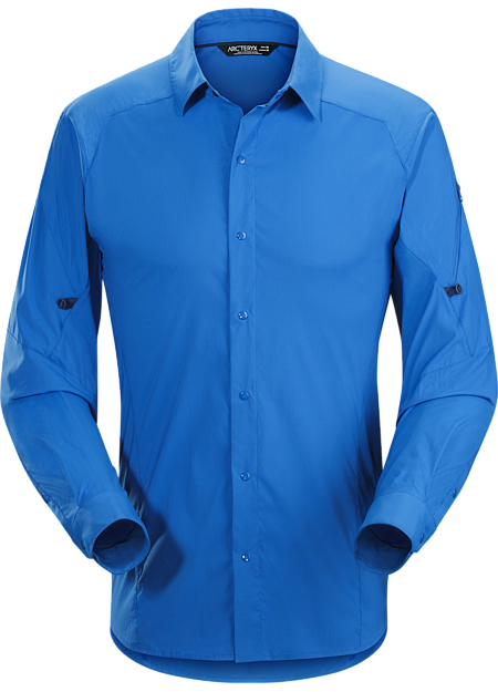 Light, hardwearing snap front Alatorre™ hiking and trekking shirt created for extended backcountry travel in hot weather.