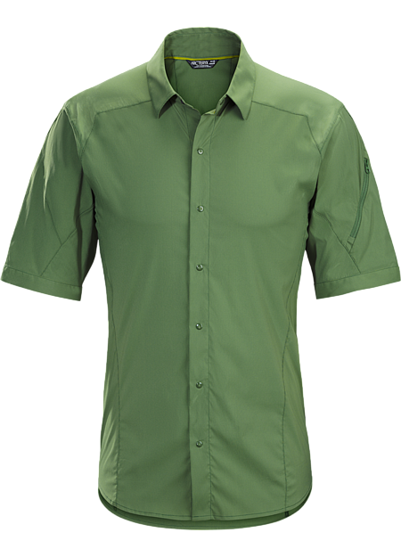 Light, air permeable, hardwearing snap-front hiking and trekking shirt created for extended backcountry travel in hot weather.