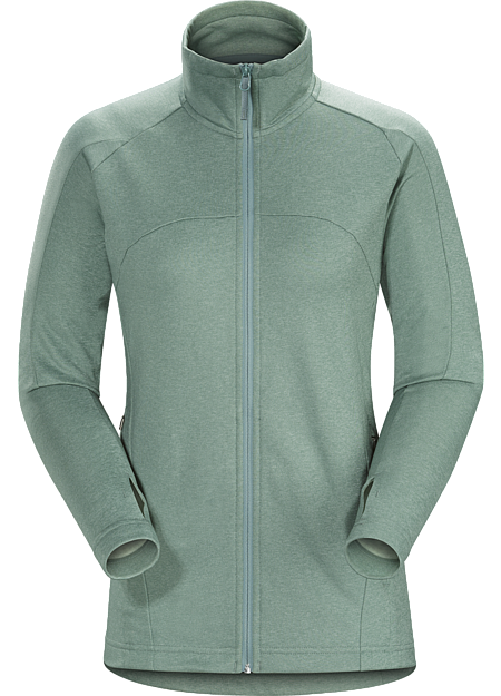 Trim fitting, lightweight, fleece jacket designed for urban bike commutes and everyday wear.