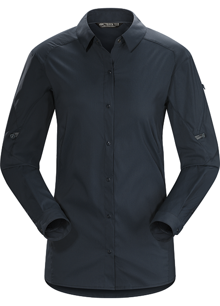 Light, air permeable, hardwearing snap-front hiking, trekking and travel shirt created for extended trips in hot, sunny weather.