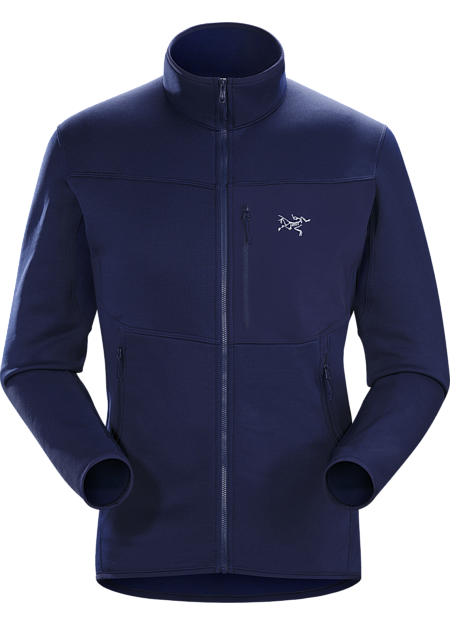 Polartec® Power Stretch® fleece with Hardface® Technology jacket for climbers and alpinists. Functions as a midweight layer or lightweight standalone.