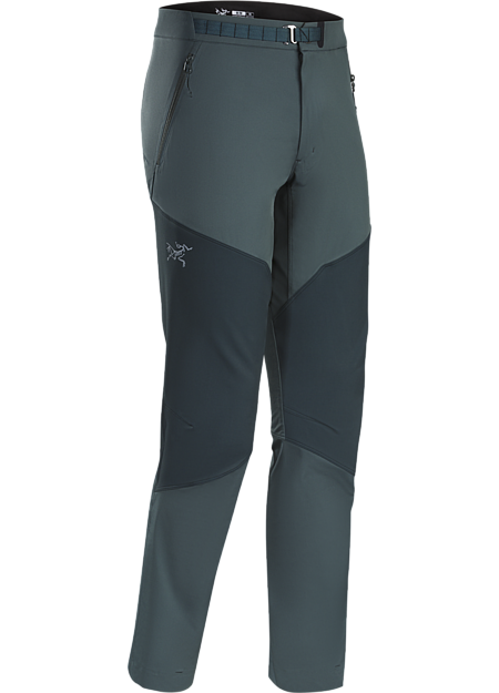 Lightweight, breathable, technical alpine pant constructed with two weights of stretchy yet durable textile that provide enhanced abrasion resistence and mobility. Gamma Series: Softshell outerwear with stretch.
