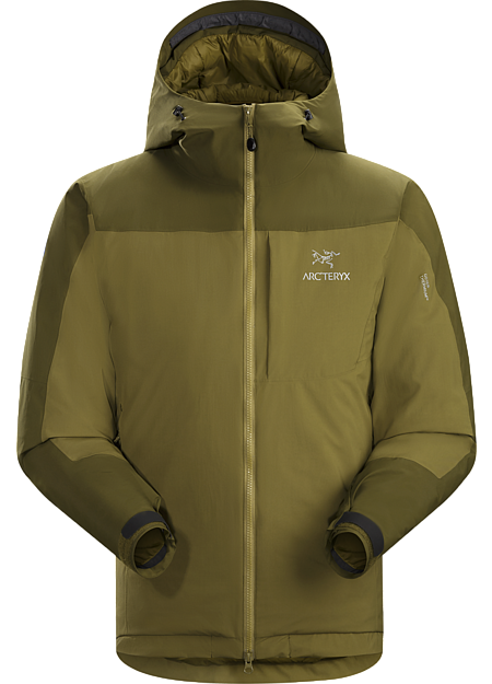 Coreloft™ insulated hoody with windproof, water-resistant GORE® THERMIUM™ shell. Kappa Series: Insulated windproof outerwear.
