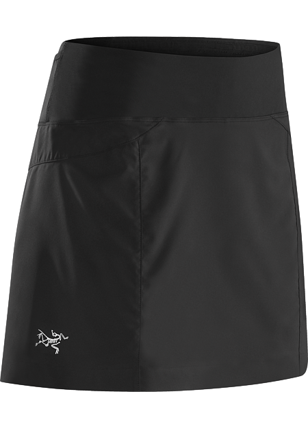 Lyra Skort Women's Lightweight performance skort with a built in liner, ¾ side split and wide stretch waistband. Designed for high output mountain training.