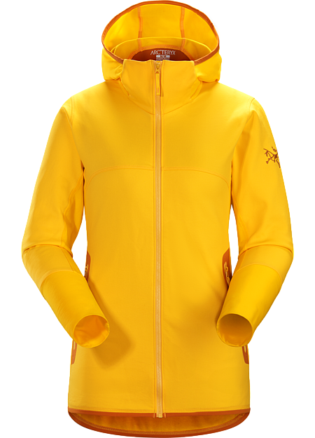Technical hybrid fleece layering hoody for all-mountain skiing and snowboarding.