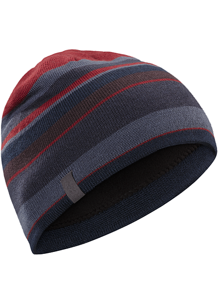 A warm, comfortable, fun loving wool acrylic blend beanie with stretch comfort and a fleece earband.