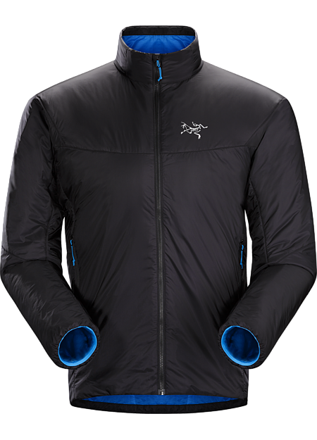 Minimalist, efficient Coreloft™ insulated three-season belay jacket with a high warmth to weight ratio and ultralight, highly compressible Arato™ 10 nylon shell.