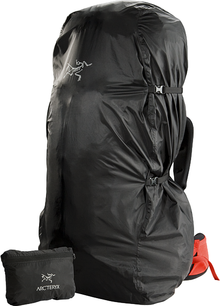 Lightweight and packable pack cover; Fits most packs up to 75L