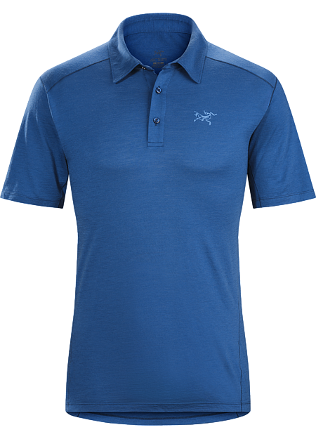 Lightweight Merino wool polo shirt designed for hiking, trekking and travel delivers natural fibre comfort and performance with the added durability of nylon.