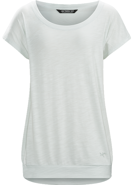 Light, comfortable, versatile short sleeve top for casual wear on its own or as a layering piece.