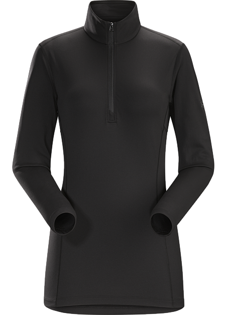 Phase AR Zip Neck LS Women's Black