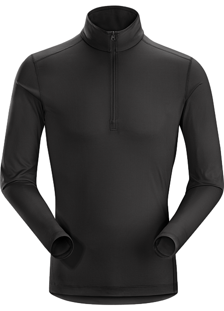 Phase SL Zip Neck LS Men's Silkweight Phasic™ zip-neck baselayer for high output in cooler temperatures. Phase Series: Moisture wicking base layer | SL: Superlight.
