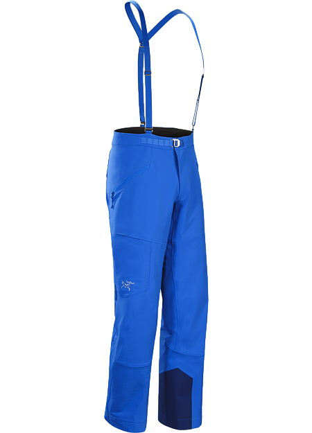 Ski alpinist's trim fit softshell pant delivers performance stretch, freedom of movement, snow protection and thermal management during high output technical climbs and challenging ski descents.