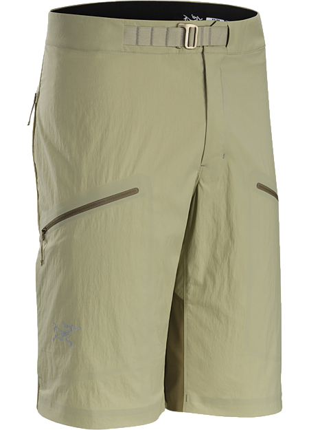 Durable hybrid softshell short for fast and light alpine climbing.