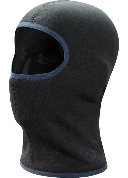 Full face coverage balaclava constructed with lightly insulated, Polartec Power Stretch textile
